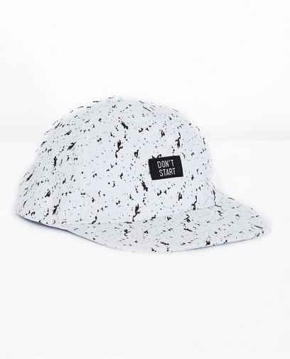 Schwarz-weiße Kappe